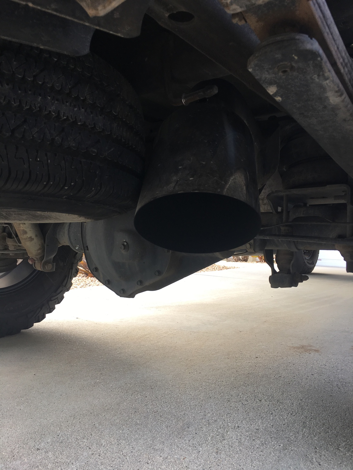 8 inch tip over axle dump stock spare