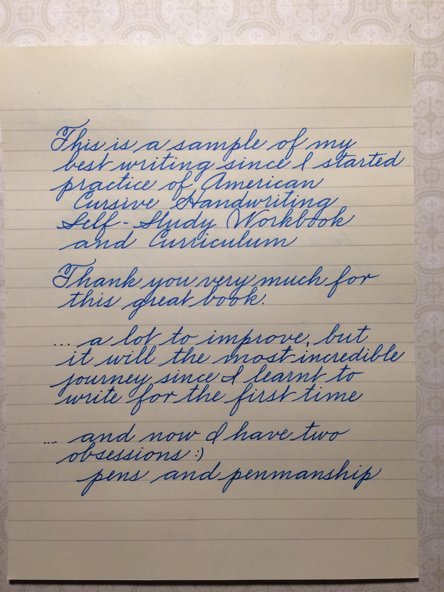 Feedback On My Penmanship
