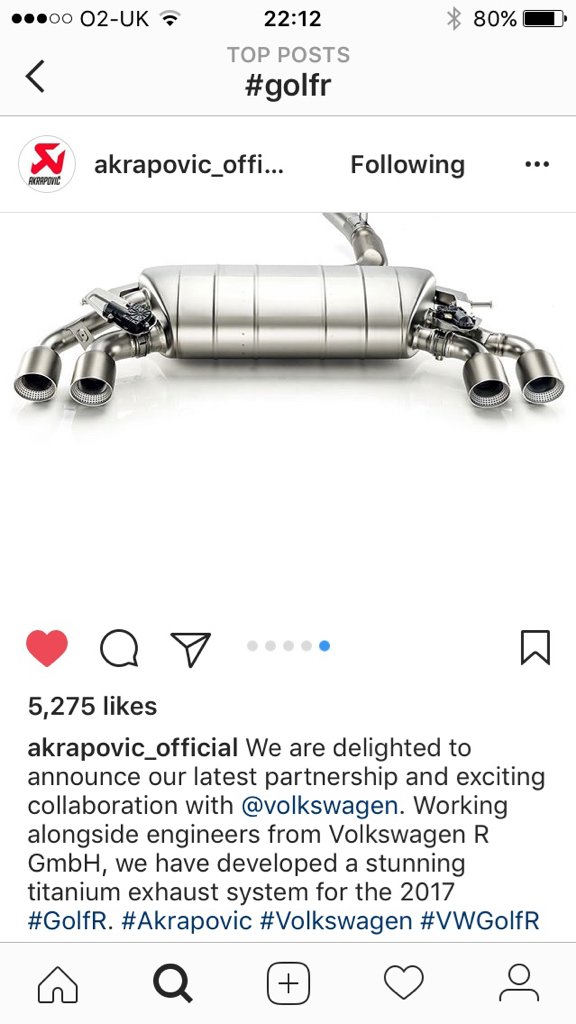 akrapovic exhaust system for 7r s
