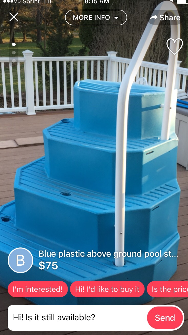 Wedding cake steps  which to get   This is my first pool  Should I be worried about algae build up with the  back being open  Just it be attached to the deck or can I just use the  weights