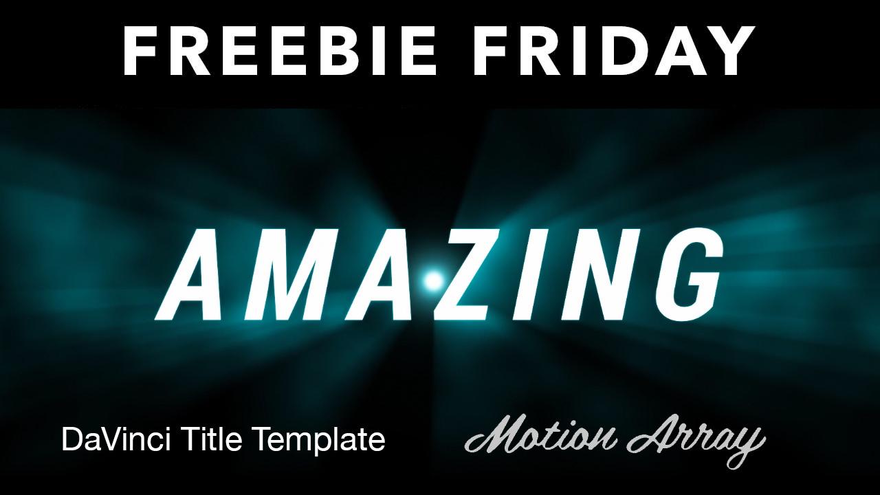 Freebie Davinci Resolve Title Template Toolfarm