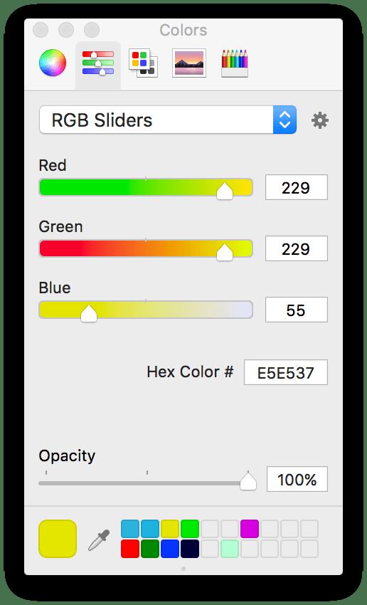 Diseño de la interfaz de usuario de iOS: cómo preparar manualmente una paleta