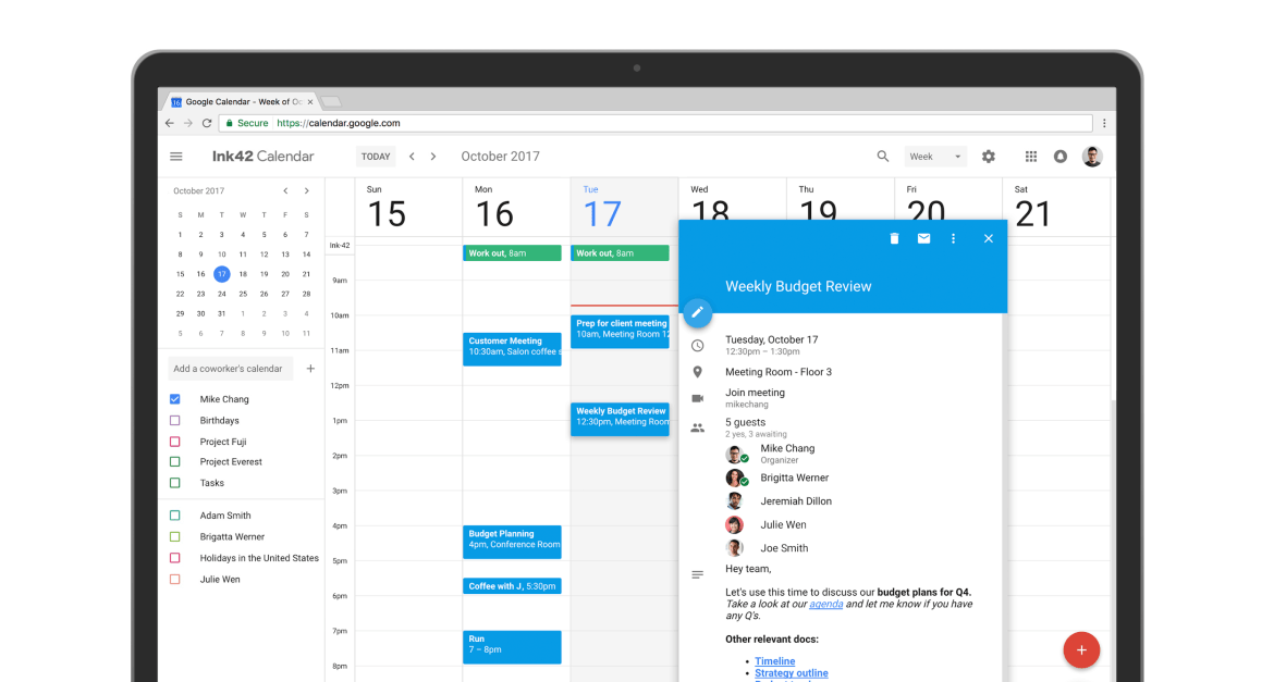 Google Calendar redesign adjusting users' mental models