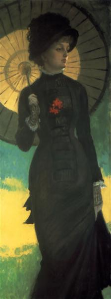 Mrs. Newton with a Parasol (1879), by James Tissot. (Photo: Wikiart.org)