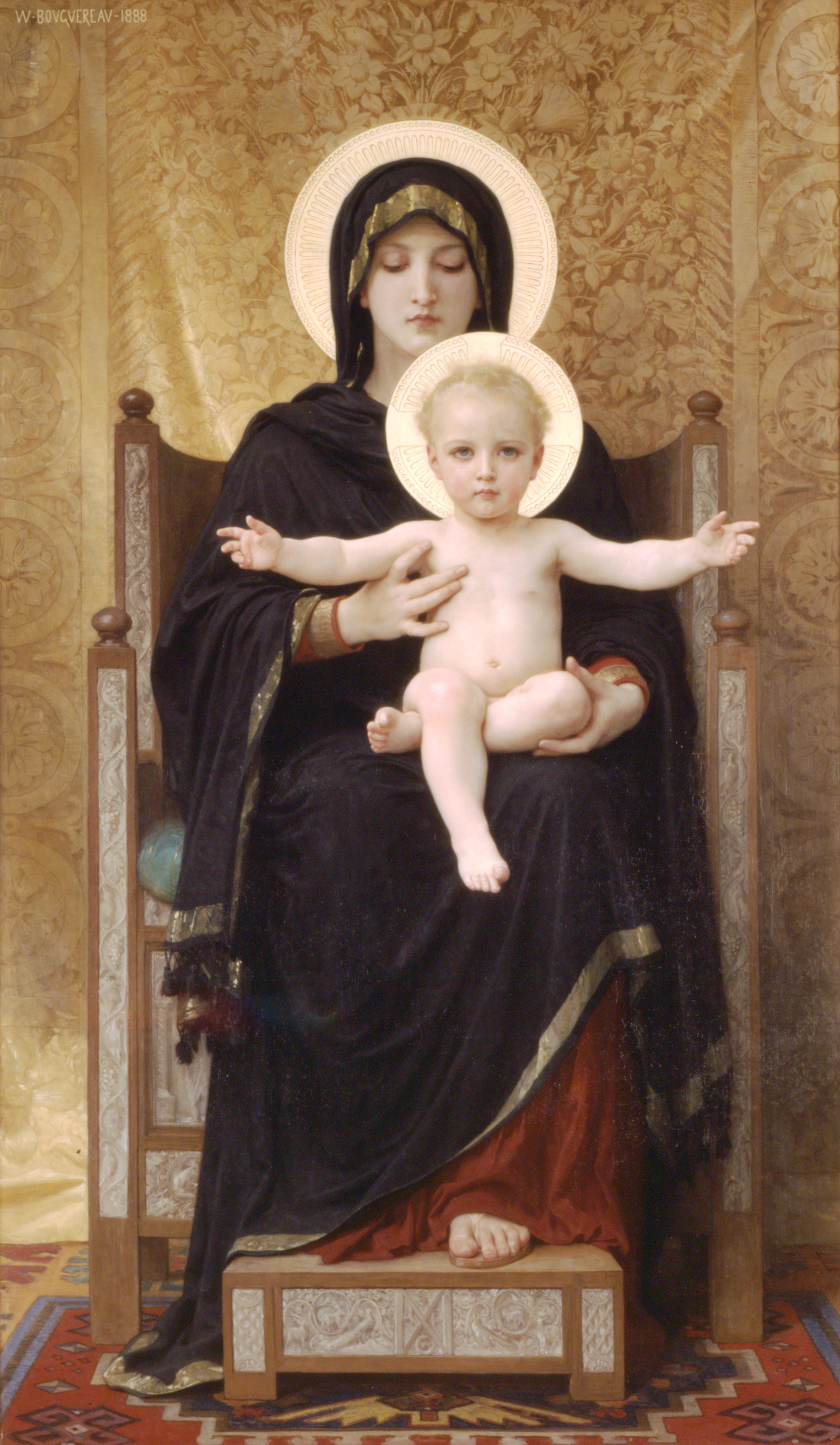 William Bouguereau - virgin and child 1888