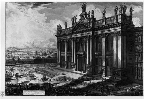 Interior view of the Basilica of St. John Lateran - Giovanni Battista Piranesi