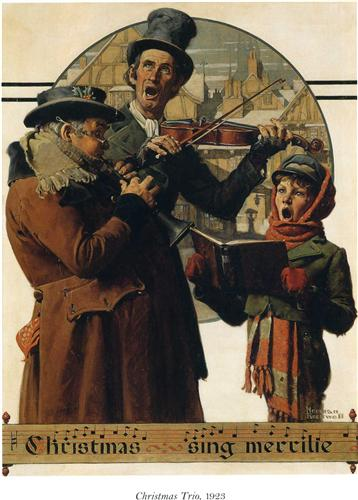 Christmas Trio - Norman Rockwell