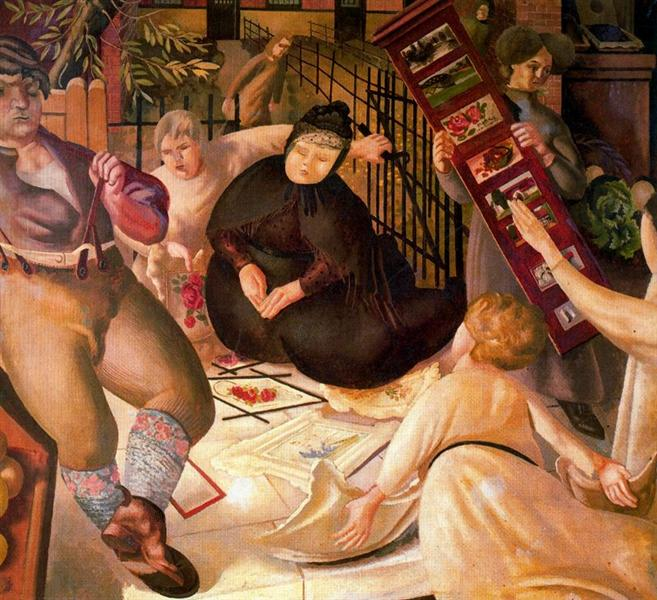 Sarah Tubb and the Heavenly Visitors, 1933 - Stanley Spencer - WikiArt.org