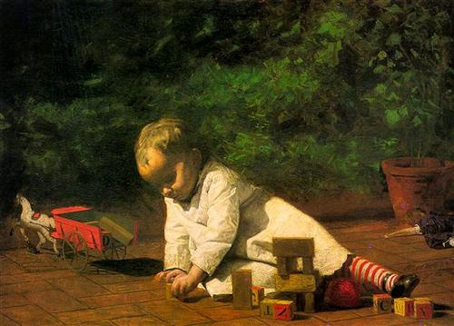 Baby at Play - Thomas Eakins