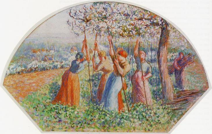 Image result for Peasants Planting Pea Sticks