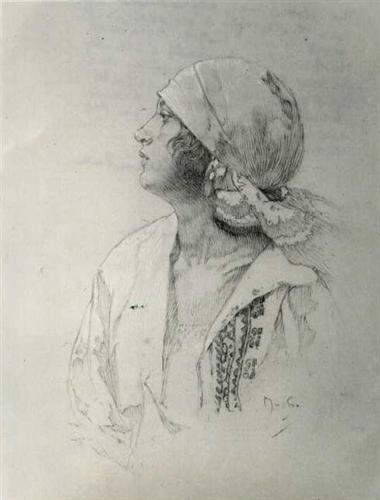 Daughter - Alphonse Mucha