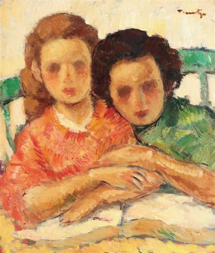 Two Sisters - Nicolae Tonitza