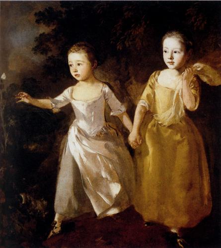 The Painter's Daughters chasing a Butterfly - Thomas Gainsborough