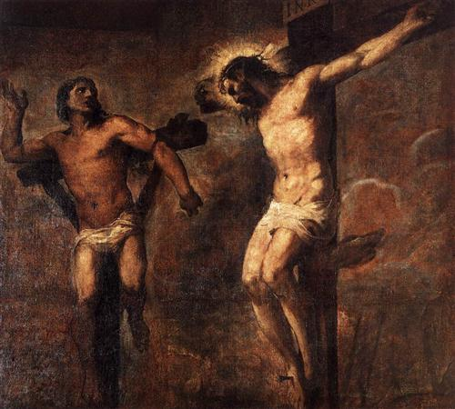 Christ and the Good Thief - Titian