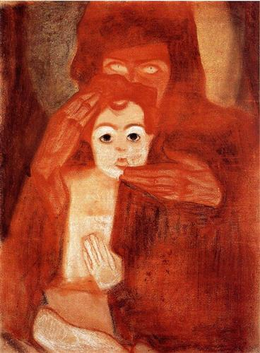 Mother and Child (Madonna) - Egon Schiele