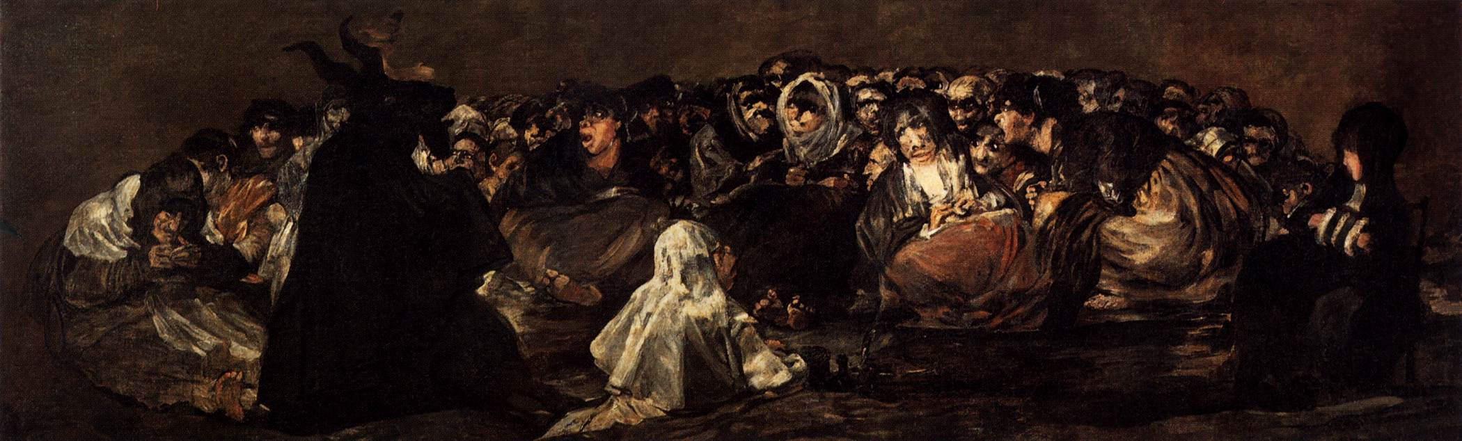 The Great He-Goat Or Witches Sabbath - Francisco Goya - WikiArt.org ...