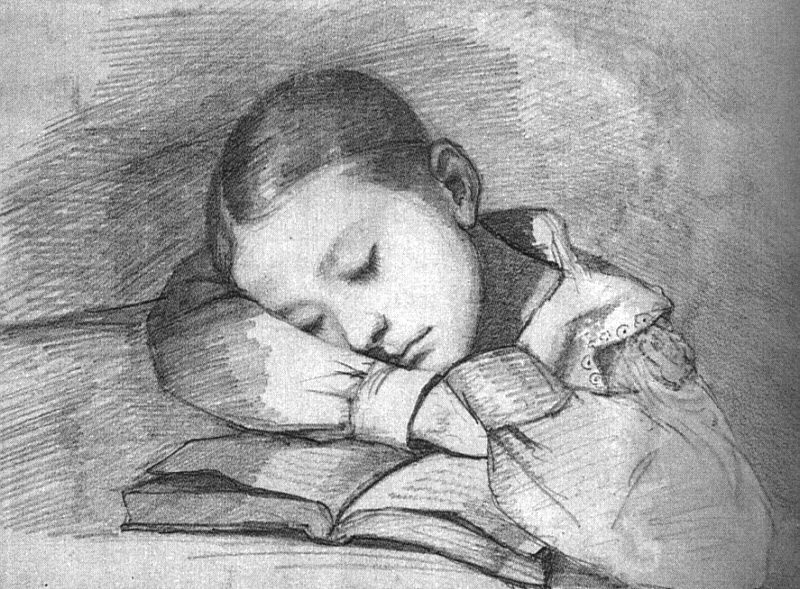 Gustave Courbet: Portrait of Juliette Courbet as a sleeping child