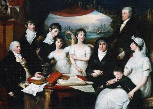 The Hope Family of Sydenham Kent - Benjamin West