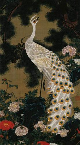 Old Pine Tree and Peacock - Ito Jakuchu