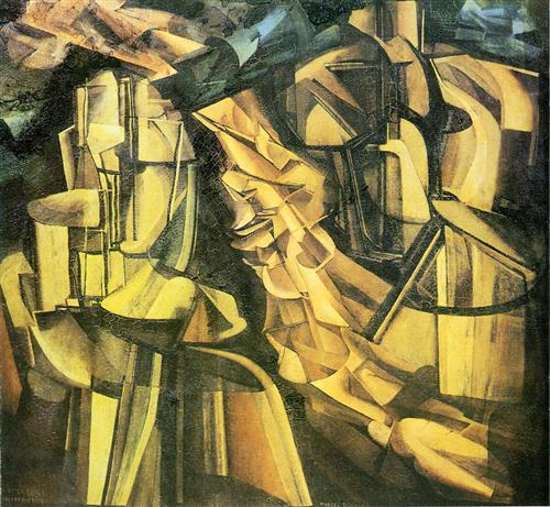 King and Queen surrounded by swift nudes - Marcel Duchamp