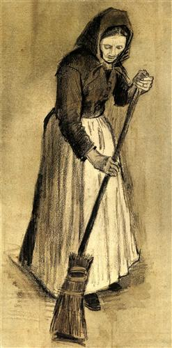 Woman with a Broom - Vincent van Gogh