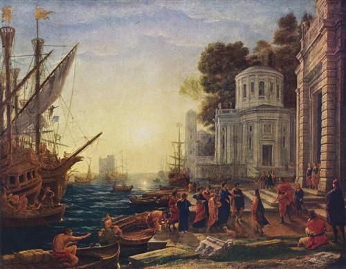 Cleopatra Disembarking at Tarsus - Claude Lorrain