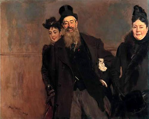 John Lewis Brown with Wife and Daughter - Giovanni Boldini