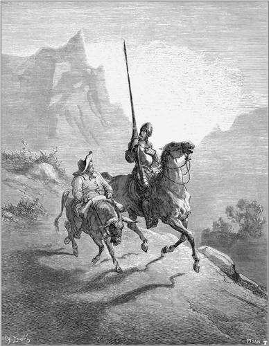 Don Quixote and Sancho Setting Out - Gustave Dore
