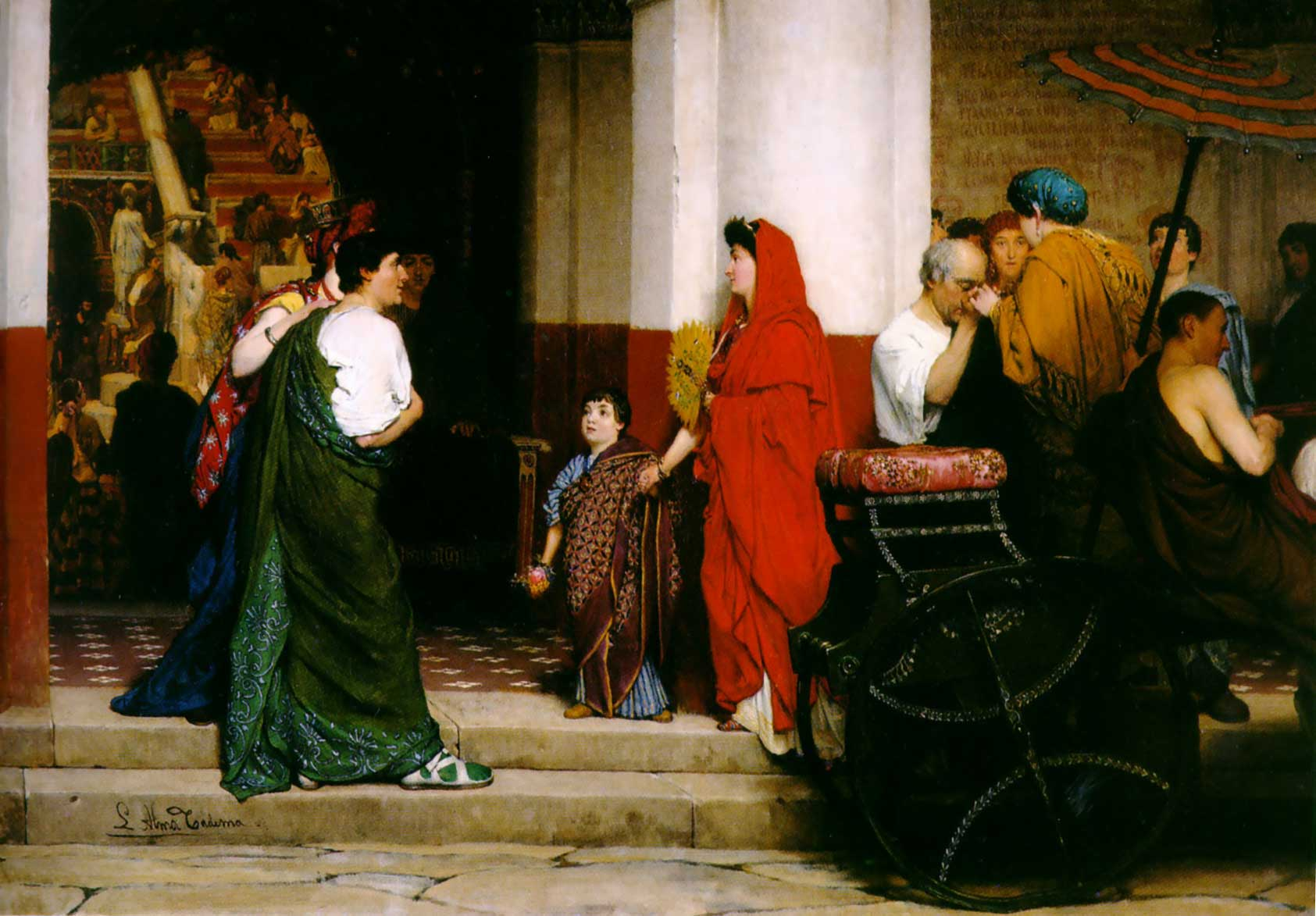 Entrance to a Roman Theatre by Lawrence Alma-Tadema