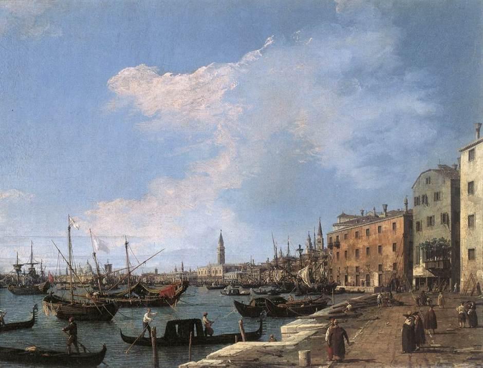 Filme de Canaletto em Veneza. Obra: Riva degli Schiavoni