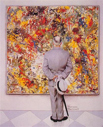 The Connoiseur - Norman Rockwell