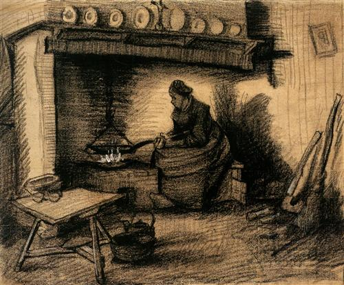 Woman Preparing a Meal - Vincent van Gogh