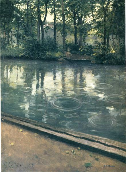 The Yerres, Rain, 1875 - Gustave Caillebotte