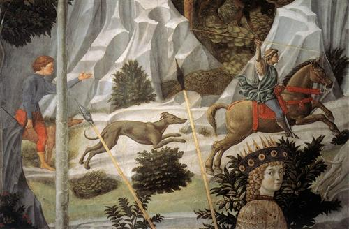 Procession of the Magus Balthazar (detail) - Benozzo Gozzoli