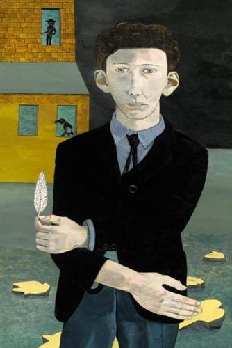 Man With A Feather (Self Portrait) 1943