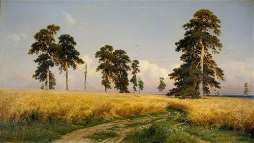 The Field of Wheat - Ivan Shishkin