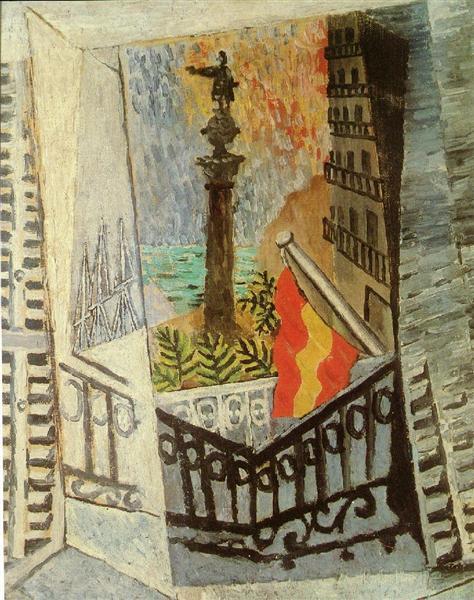 El Paseo de Colon, 1917 - Pablo Picasso