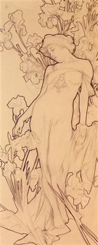 Iris - Alphonse Mucha