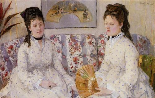 Two Sisters on a Couch - Berthe Morisot