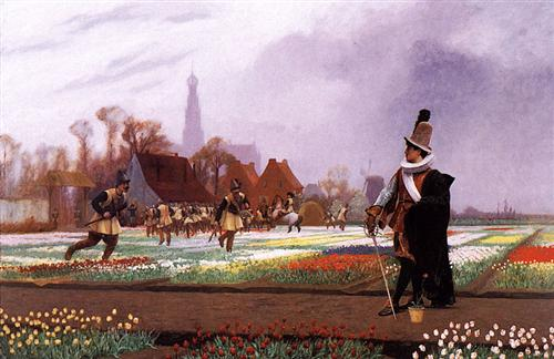 The Tulip Folly - Jean-Leon Gerome