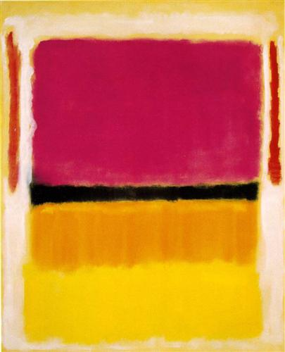 Violet, Black, Orange, Yellow on White and Red - Mark Rothko