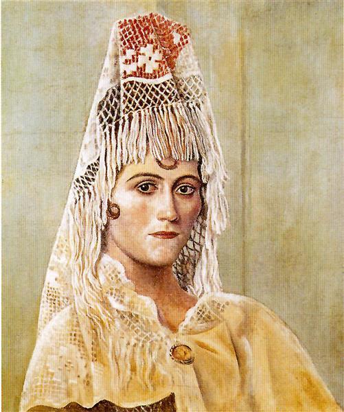 Olga in a Mantilla, 1917 - Pablo Picasso