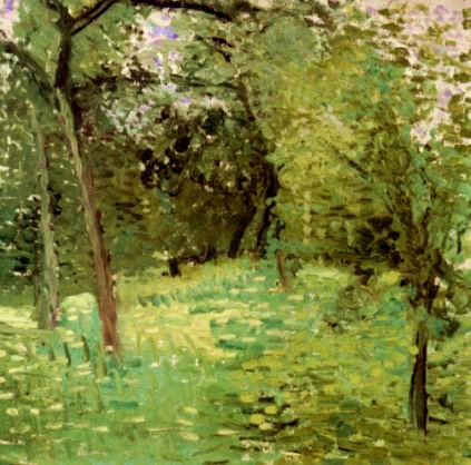 Flowering Meadow with Trees - Richard Gerstl
