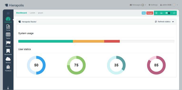 014 Hierapolis – A Bold Bootstrap Admin Template - 15 belos templates grátis para o seu admin em Bootstrap
