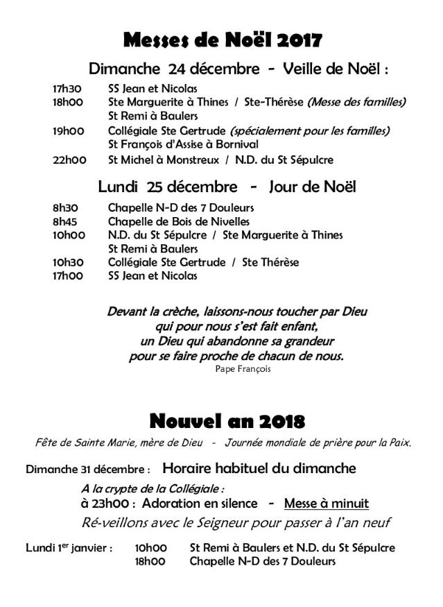 2017 Messe de noel