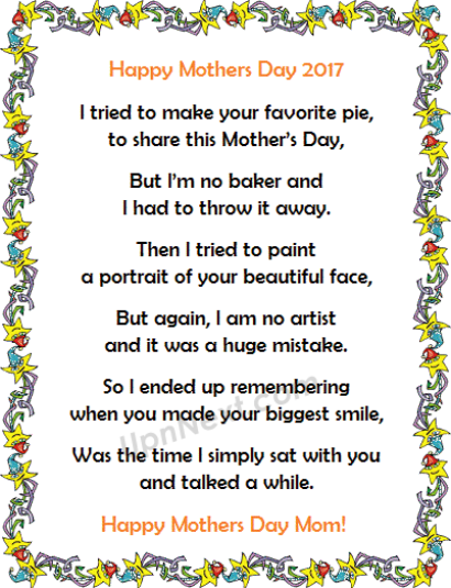 Funny Mothers Day Poem