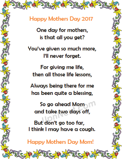Mothers Day Picture Poems