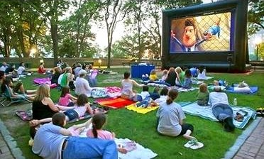 outdoor movie birthday party