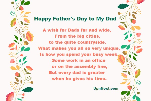fathers day poems pictures