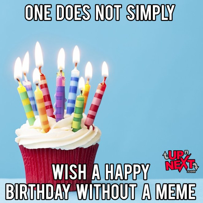 happy birthday meme candles